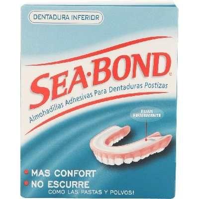 Sea Bond Almohadillas Adhesivas Inferiores Dentadura Postiza