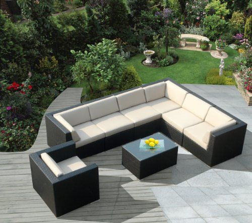 Amazing Ohana Collection PN0803 8 Piece Outdoor Patio Sofa Sectional Wicker  Furniture Couch Set Ohana Collection