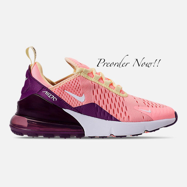 low priced 332ef 9aa8f Swarovski Women s Nike Air Max 270 Pink Tint   Purple   Etsy