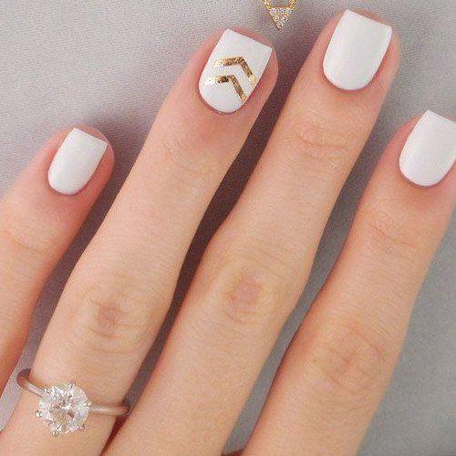 white nail polish design 14