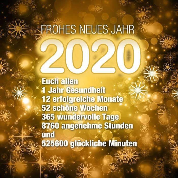 FROHES NEUES JAHR 2020. Euch allen 1 Jahr Gesundheit, 12... - Gute Texte #2020quotes