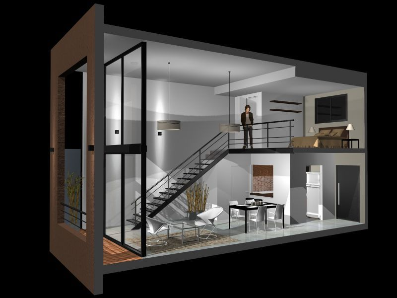 Resultado de imagen para loft modernos planos 1 Pinterest