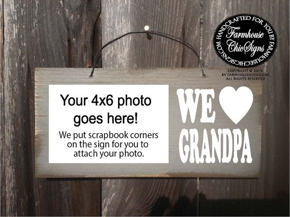 Grandpa Picture Frame Father's Day Gift by FarmhouseChicSigns