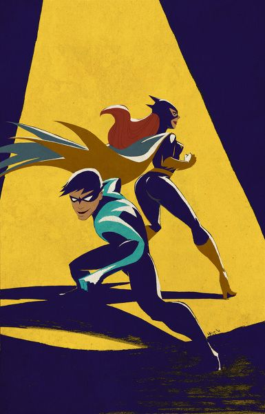 My two favorite characters....Dick Grayson and Dr. Barbara Gordon, AKA Nightwing and Batgirl