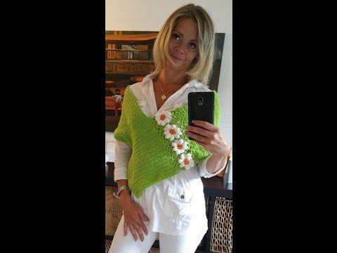 Sommer Poncho Mit Blumen Granny Teil 1 Häkeln Mit Yve Youtube