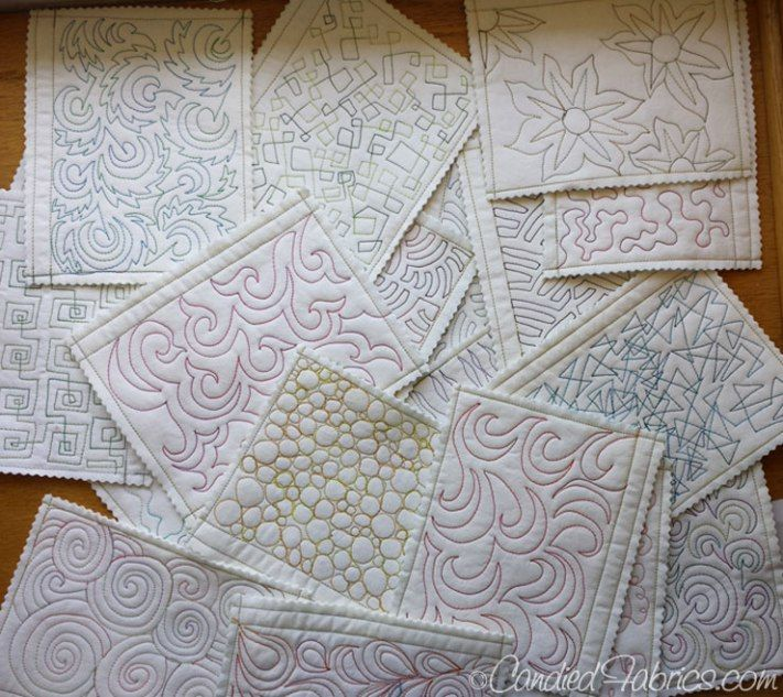 Studio Snapshots   Building a Sampler Book for Free Motion Quilting Motifs   Candied Fabrics