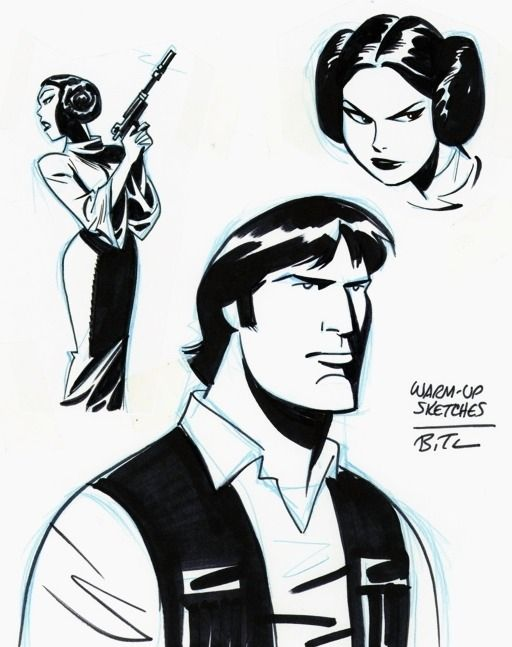 Star Wars art by Bruce Timm