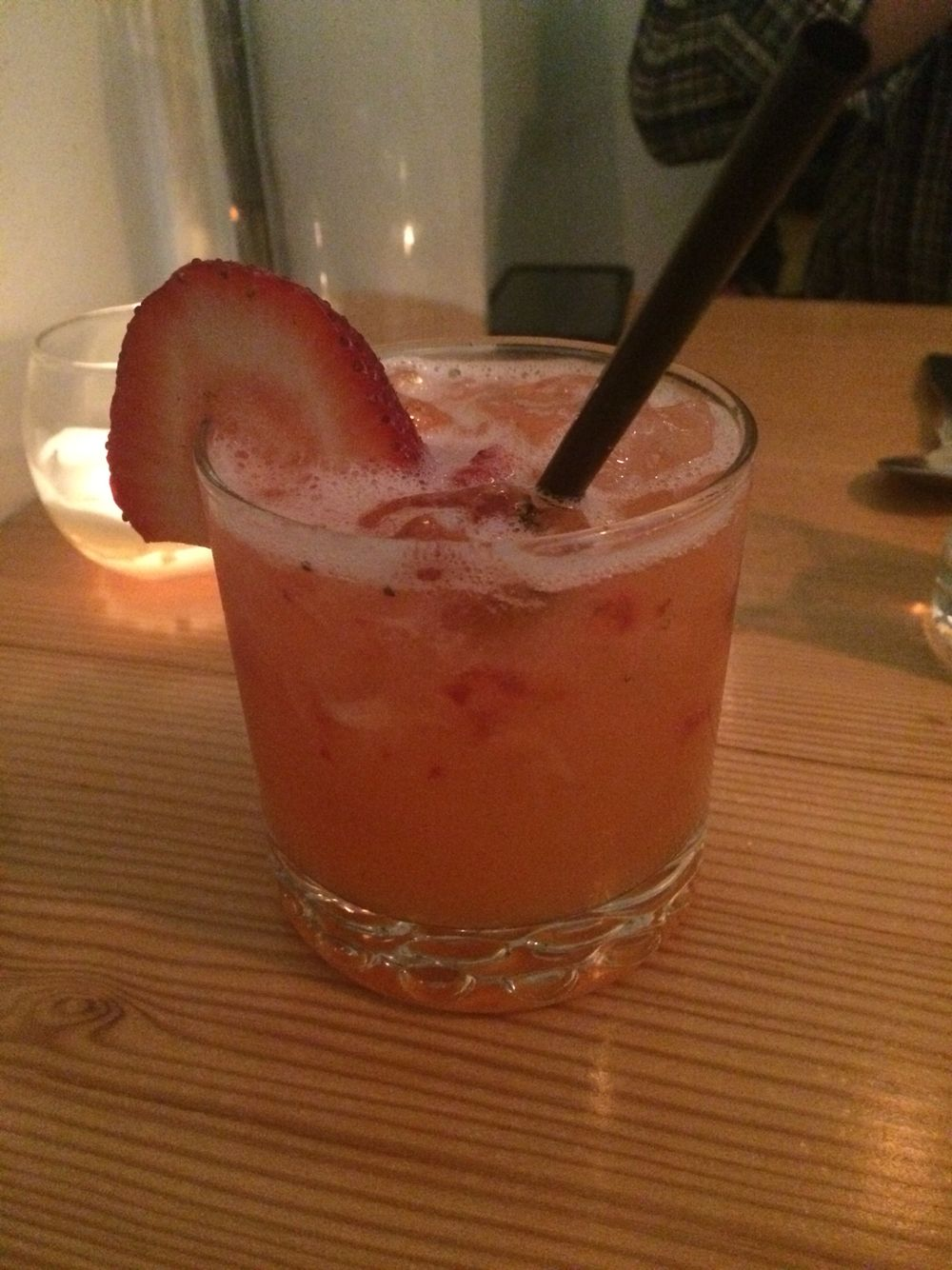 A strawberry tequila drink. Only time I'll drink tequila.
