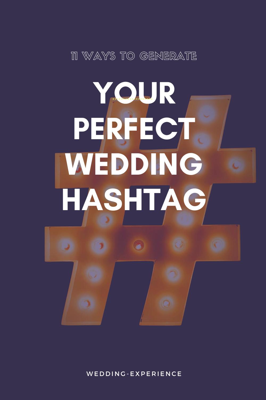 FREE Wedding Hashtag Idea Generators in 2020 Wedding