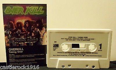OVERKILL Taking Over U.S. 1987 Cassette Tape EX  Thrash Rock - http://music.goshoppins.com/cassettes/overkill-taking-over-u-s-1987-cassette-tape-ex-thrash-rock/
