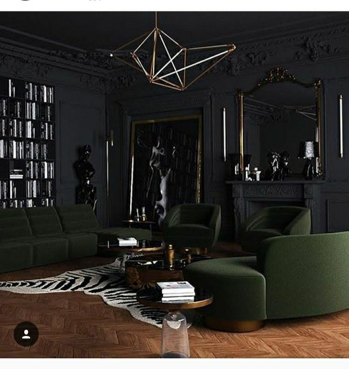 Masculine Interior Decorating: Masculine Living Rooms, Dark