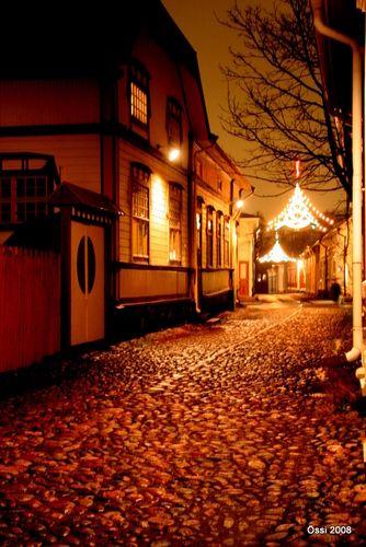 Wanhan Rauma jouluvalaistuksessa/ Old Town of Rauma in Christmas lights