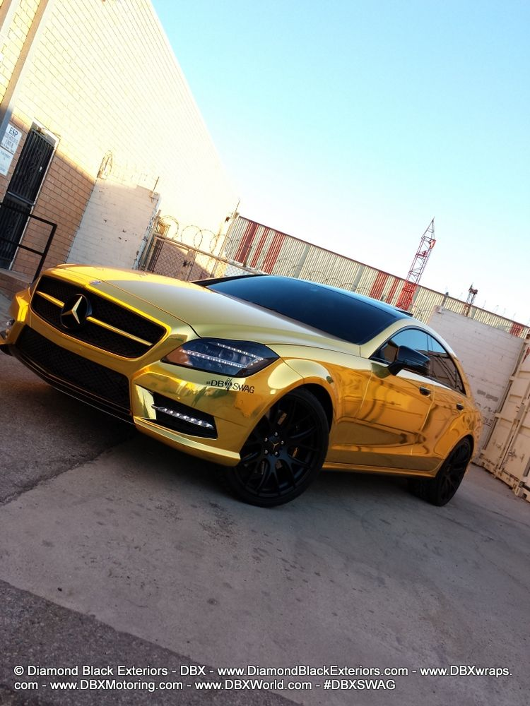 Using Avery Supreme Gold Chrome Vinyl In Combination With Tinted
