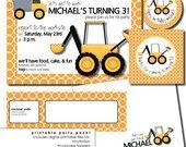 construction birthday party invitation. $15.00, via Etsy.