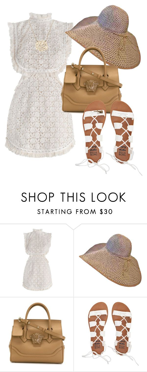 """""""Untitled #500"""" by darragh-grier ❤ liked on Polyvore featuring Zimmermann, Versace, Billabong and Moon and Lola"""