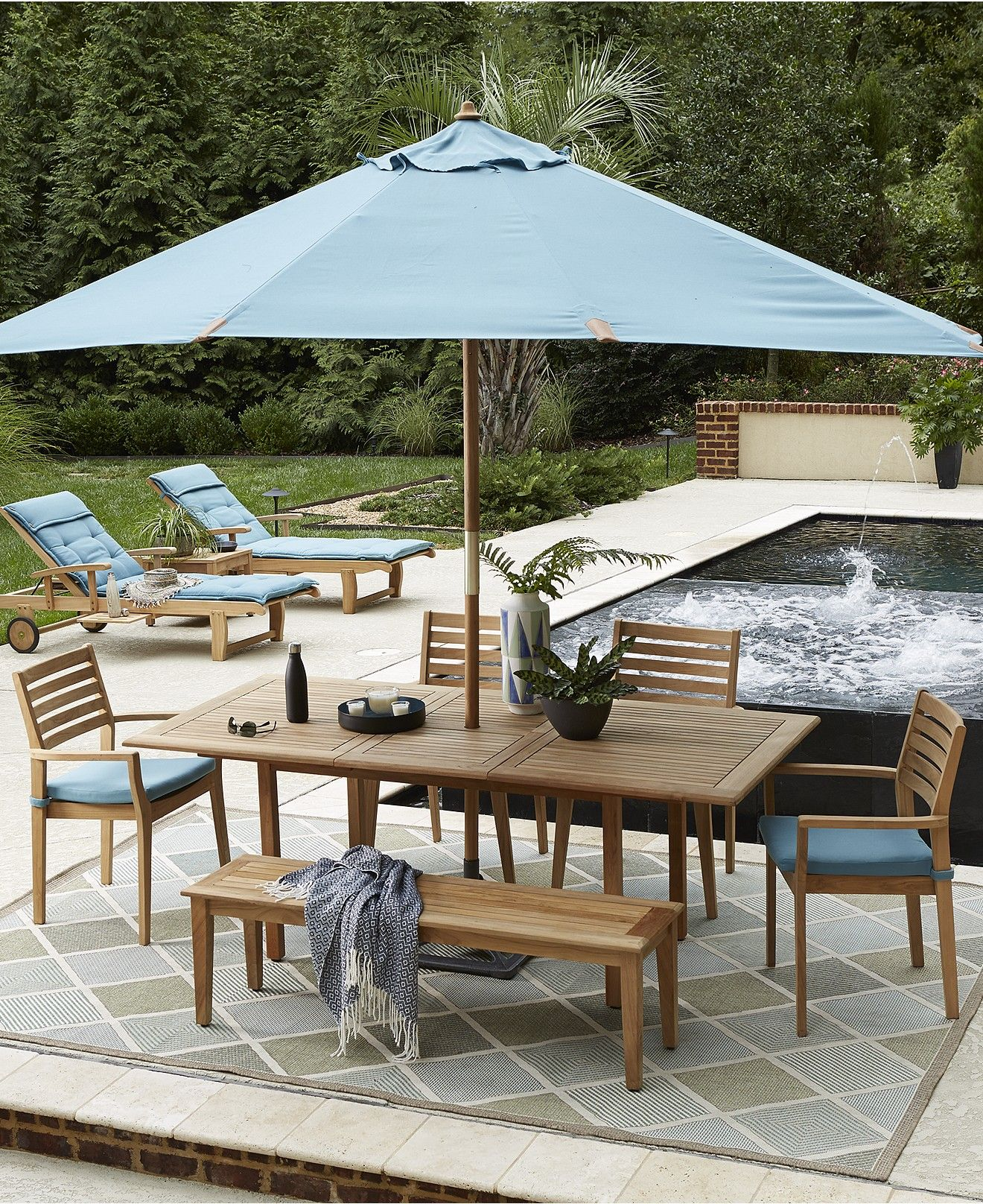 CLOSEOUT Anders Teak Outdoor Dining Collection Created for