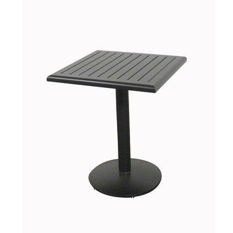 Slat Java 24 Square Pedestal Dining Table Pedestal Dining Table