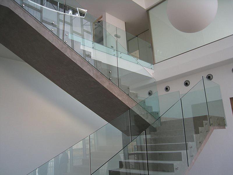 Barandillas de escalera ideas casa barandilla cristal baranda vidrio y vidrio - Barandilla cristal escalera ...