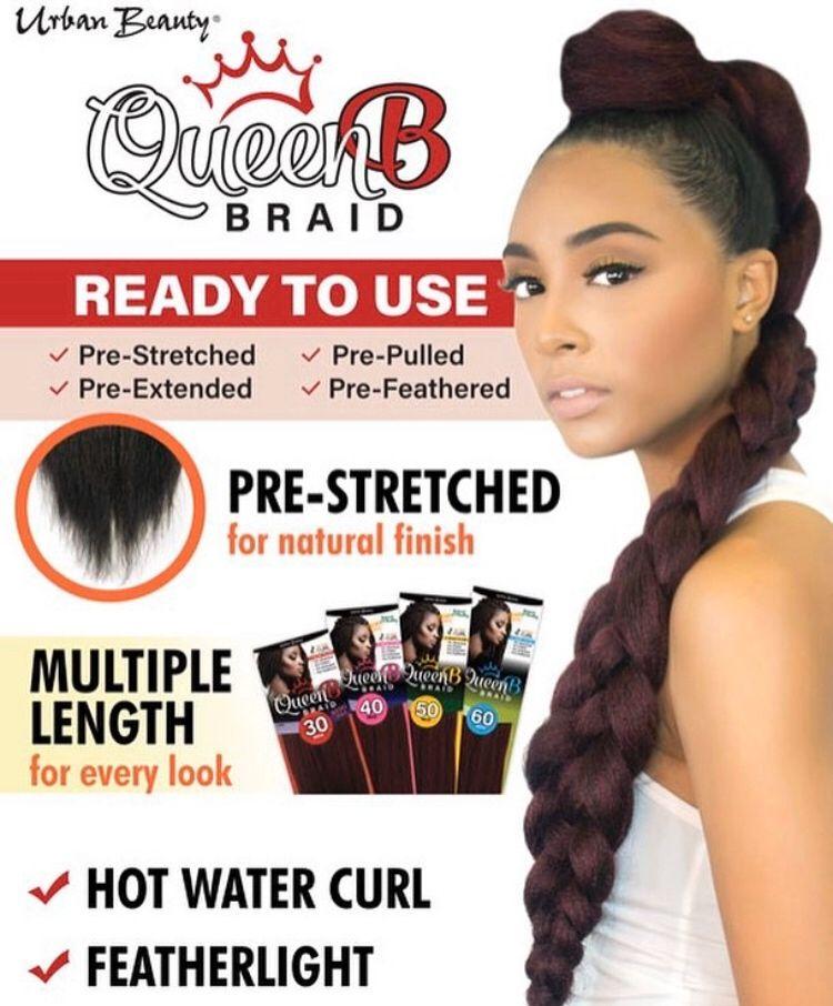 BACK IN STOCK!!!! Urban Beauty's Queen B braiding hair is