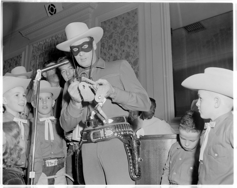 1956 Austin, Texas Lone Ranger signing autographs Lone