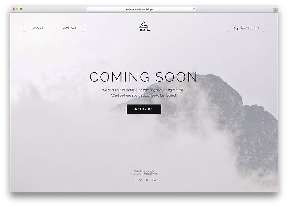 triada-fullscreen-coming-soon-html5-template Senior Show Website