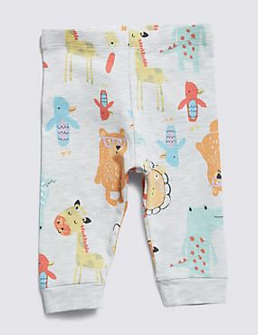 Bought in 9-12 months Cotton Rich Assorted Animal Print Leggings