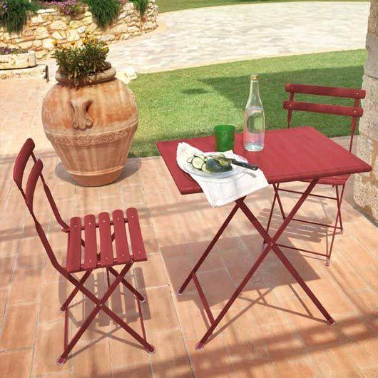 Ensemble table & chaise ARC EN CIEL Emu | Outdoor | Mobilier ...