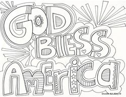 God Bless America Fourth Of July Coloring Pages Google Search