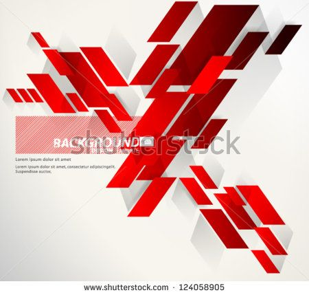 Design Template - eps10 Abstract Red Thick Slant Lines Background