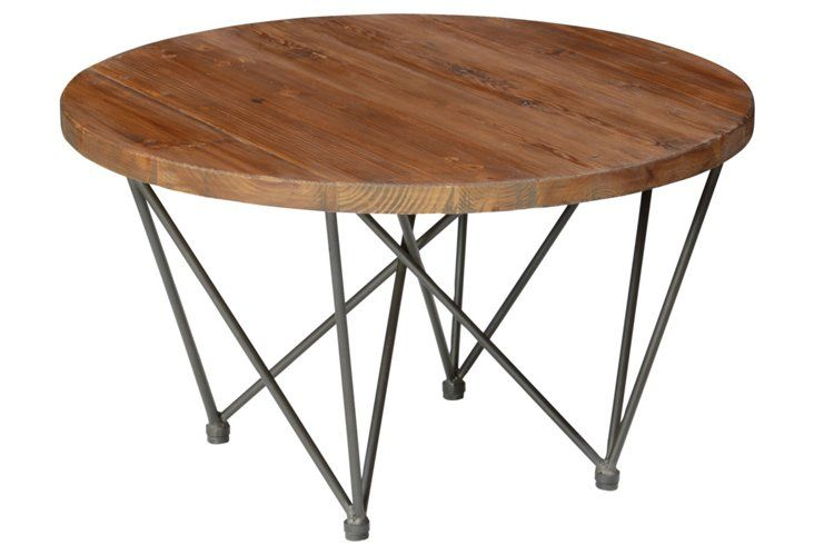 Bea 32 Round Coffee Table Wood Silver Round Coffee Table