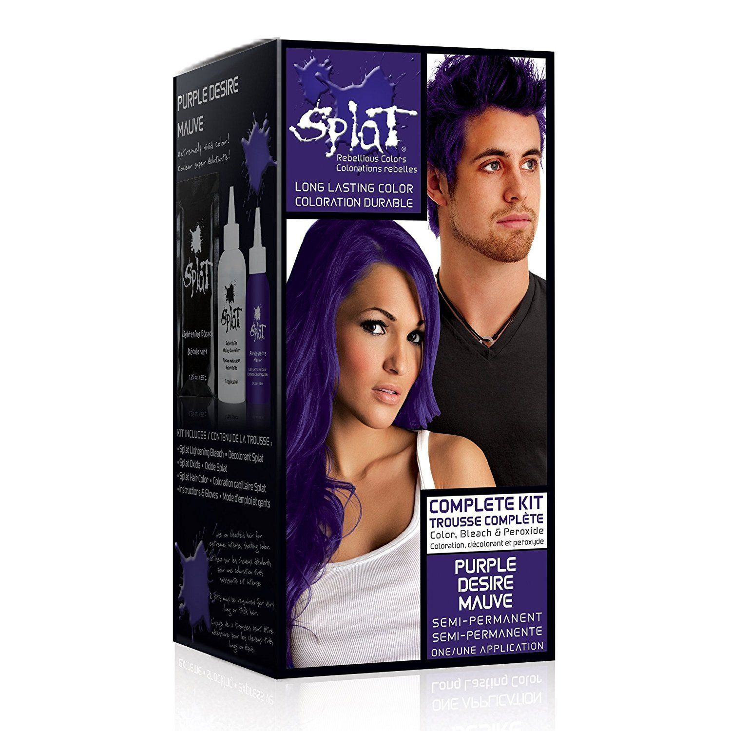 Splat Rebellious Colors Hair Coloring Complete Kit Purple Desire This Is An Amazon Affiliate Link Splat Hair Dye Dyed Hair Purple Semi Permanent Hair Dye