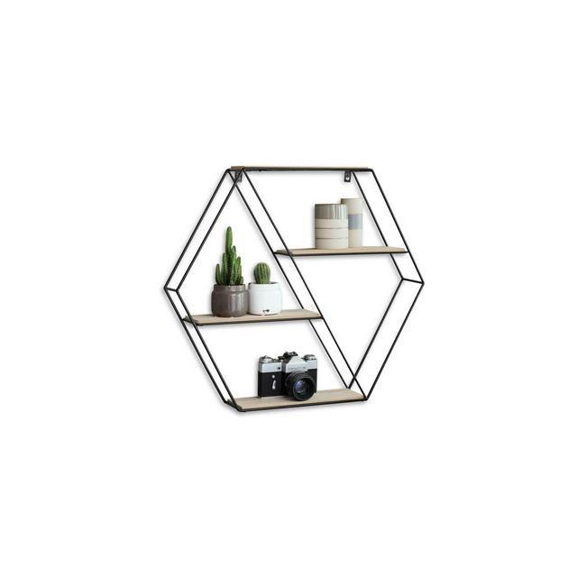 Photo of Esagole Mensola Design Mensole design Soggiorno Libreria Parete sospesa con 4 ripiani …