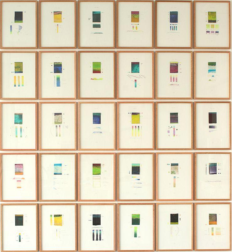 Thomas Deyle. ColorCheck 2014, Collage, Zeichnung, fortlaufende Serie