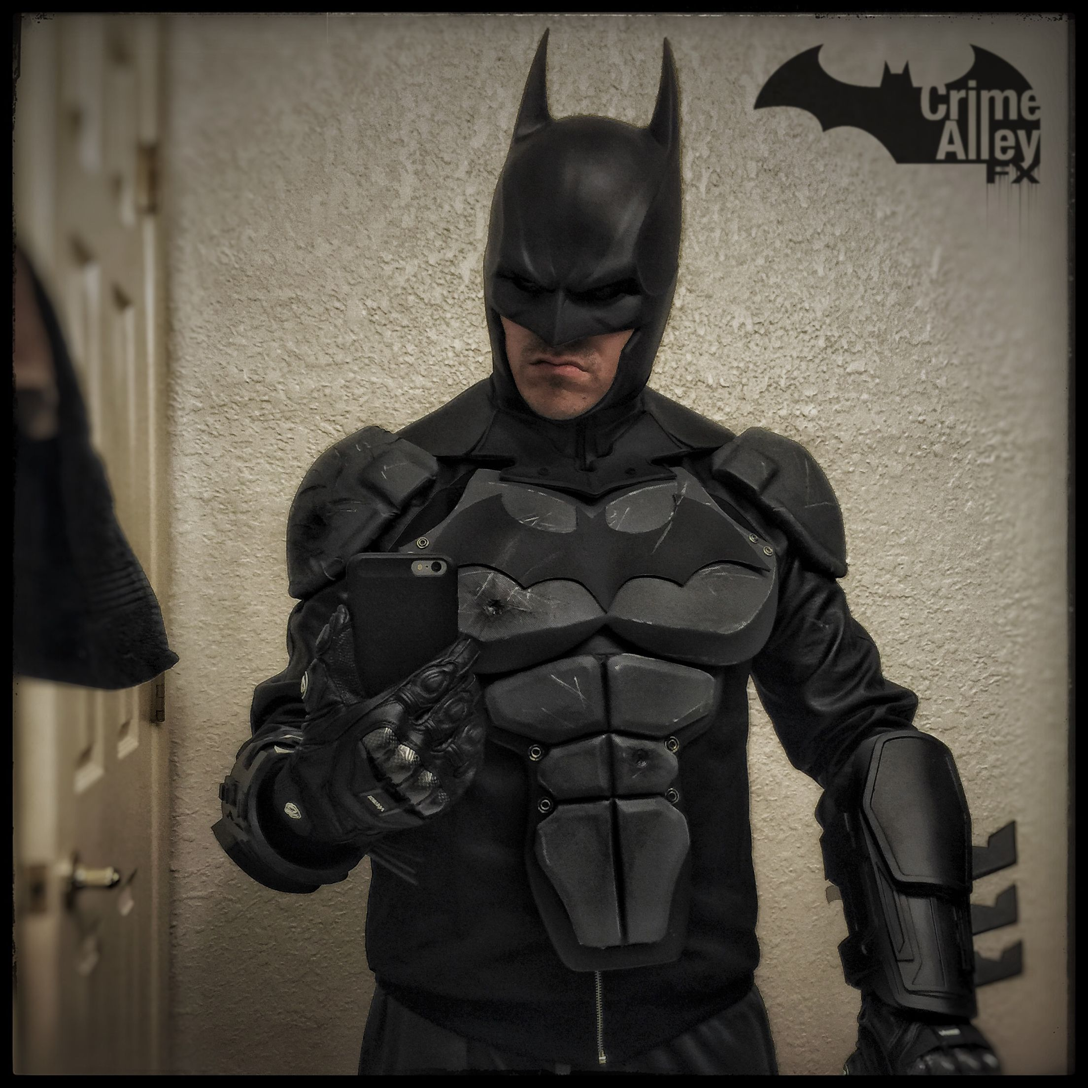 Batman Arkham Knight Batcave: Progress On My Batman Arkham Origins Costume. Shoulders
