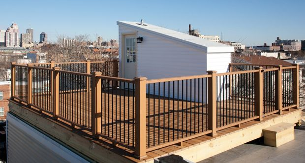 Roof Deck With Pilot House In South Philadelphia
