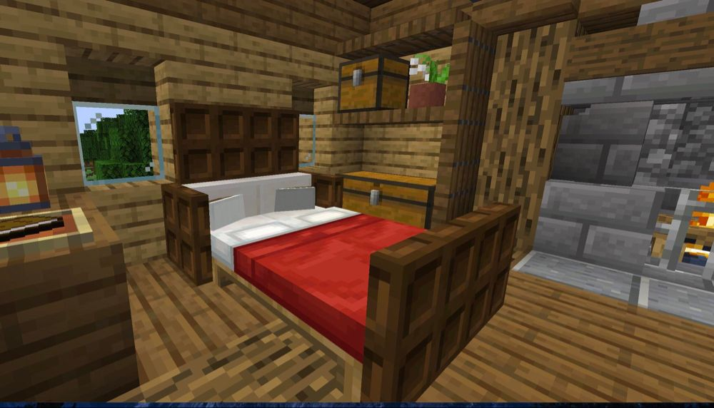 Sleep In Comfort. Respawn In Style. : Minecraft (With