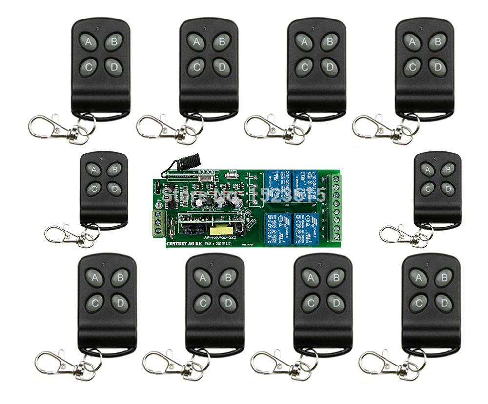 85v 250v 110v 220v 230v 4ch Rf Wireless Remote Control Relay Switch Security System Garage Doors Rolling Gate Electric Do Remote Control Remote Security System