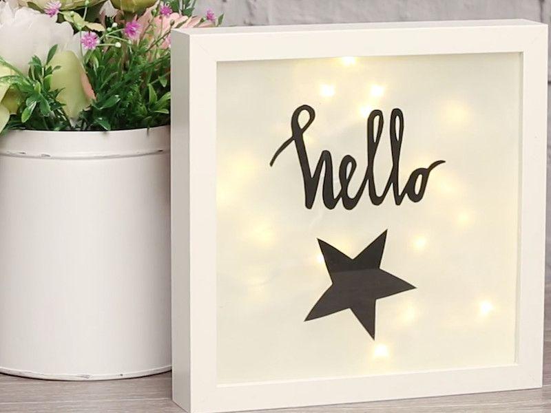 Ikea hack lightbox selbst basteln ideensammlung basteln diy basteln und bilderrahmen basteln - Lightbox weihnachten ...