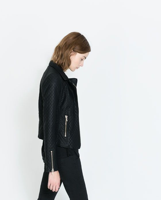 ZARA - NEW COLLECTION - FAUX LEATHER BIKER JACKET