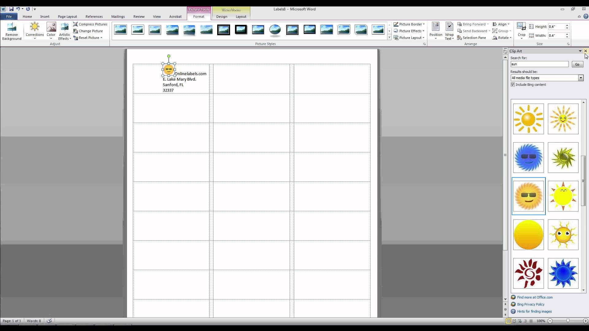 How To Add Images And Text To Label Templates In Microsoft Word Printable Label Templates Label Templates Name Badge Template
