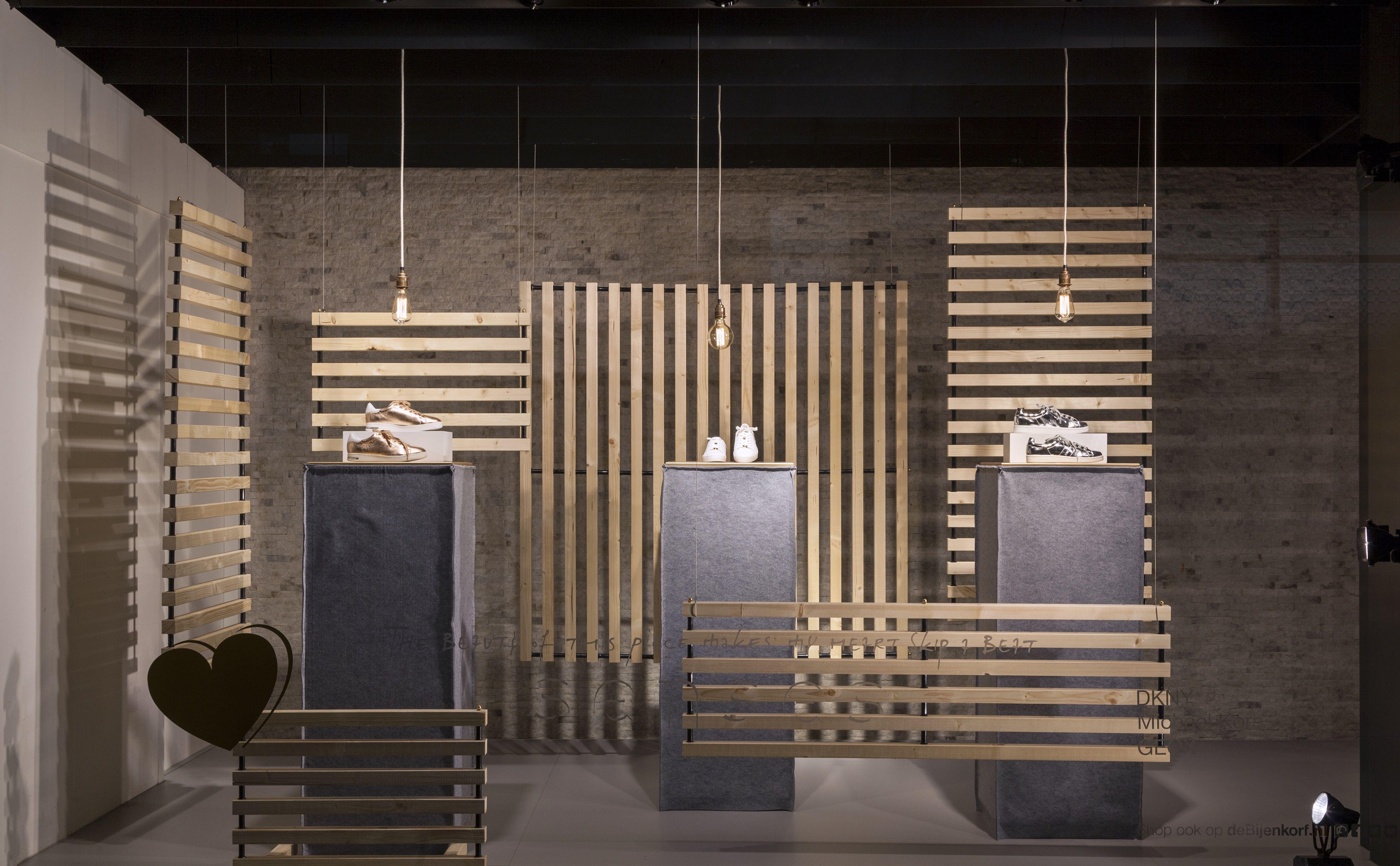 Window display ideas for jewelry  de bijenkorf  senses see  bag display  pinterest  display