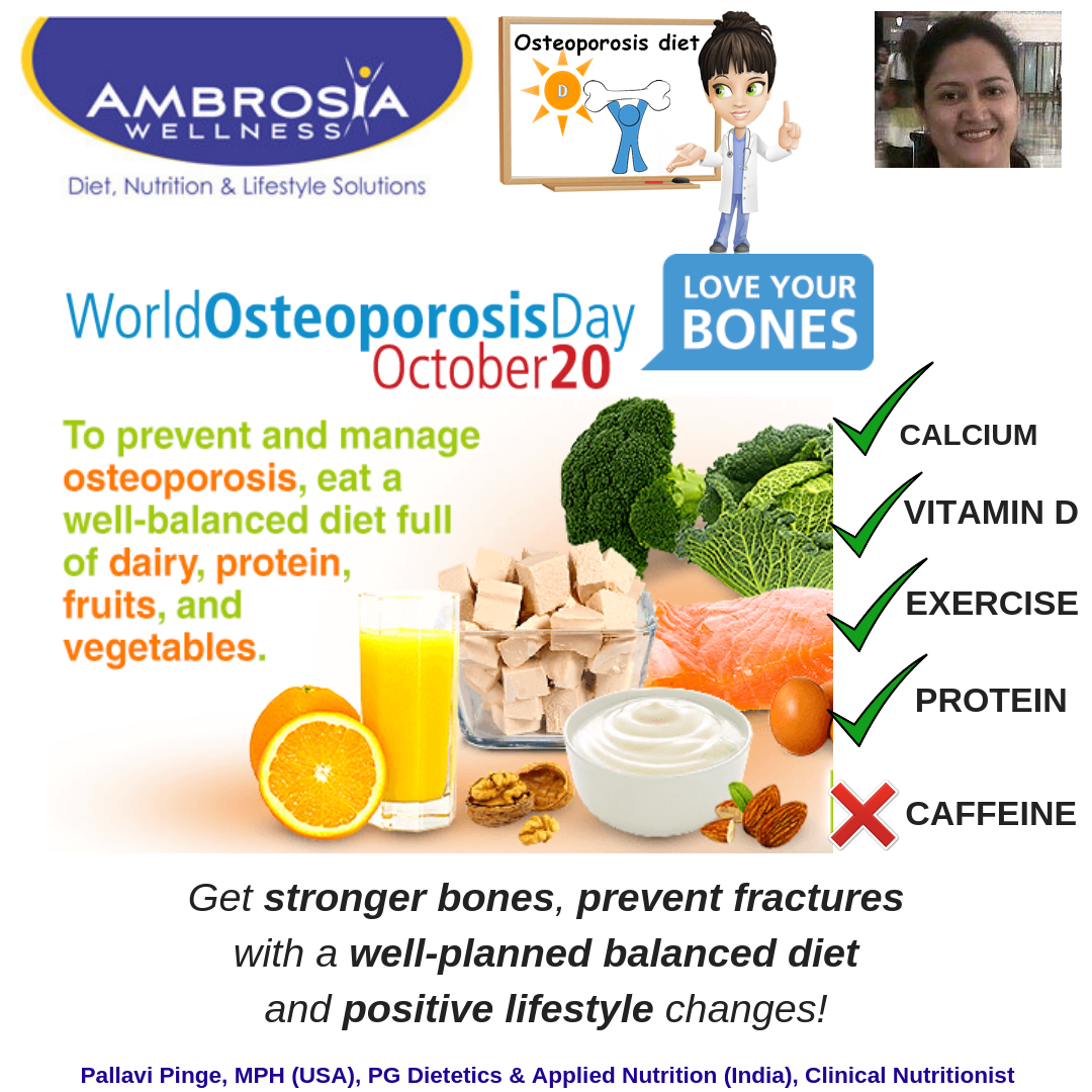 Get Strong Bones With The Right Diet World Osteoporosis Day Is On October 20 Annually Worldosteoporosis Osteoporosis Diet Well Balanced Diet Balanced Diet