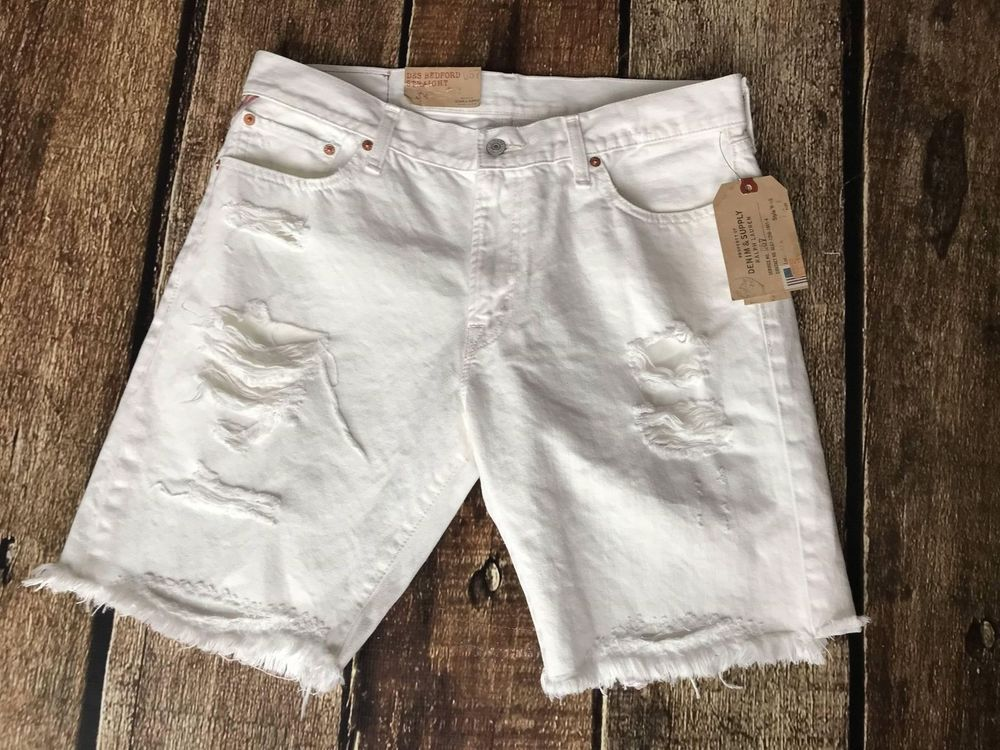 71d0bbce0a Denim & Supply Ralph Lauren Straight-fit Bedford Ripped Shorts Mens Various  Size | eBay