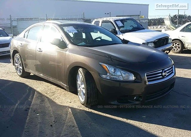 Salvagecars Nissan Maxima 2012 Model At Online Auto Auction At
