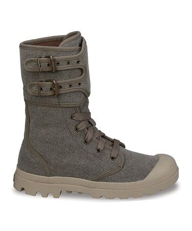Take a look at this Dark Tan Pampa Peloton Canvas Boot on @zulily today! JUST BOUGHT ON ZULILY 3/17/14!