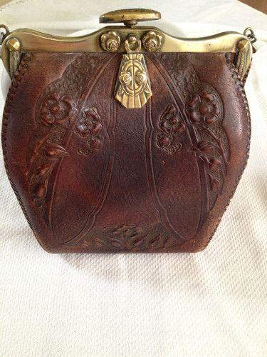 98ccc73222 Vintage Justin leather goods Co.hand tooled leather purse 1920 s ...