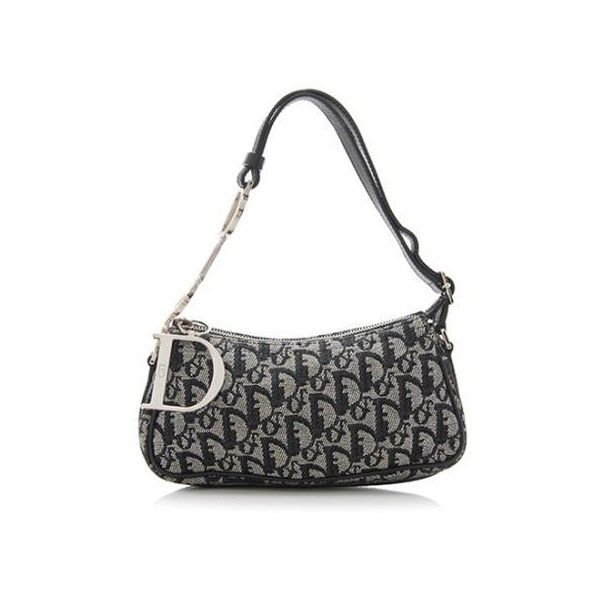 Pre-Owned Dior Canvas Charms Small Shoulder Bag ( 200) ❤ liked on Polyvore 0d87f5304028d
