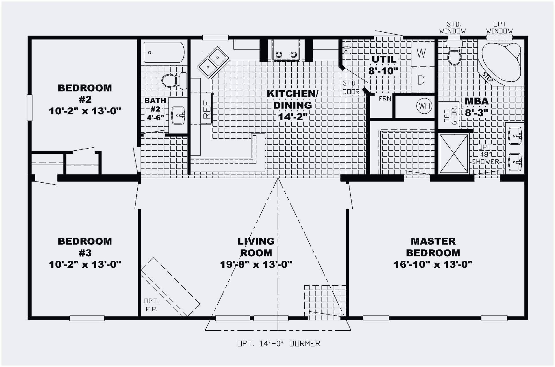 23 Best Of Small 3 Bedroom House Floor Plans Collection Basement House Plans Floor Plans Ranch Open Floor House Plans