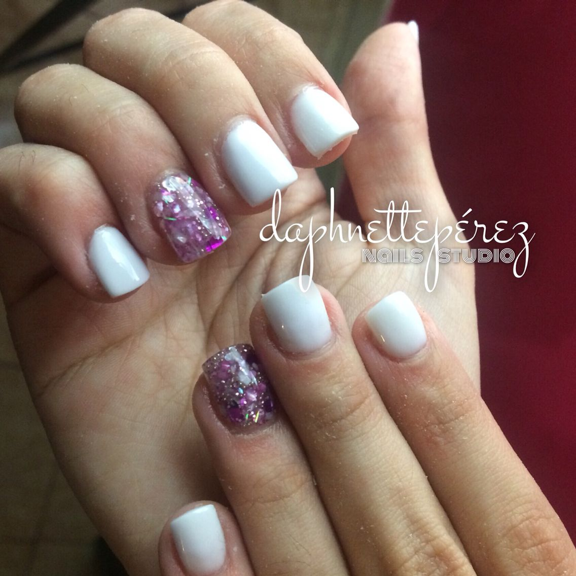 ⚪ #FullSet #blanco #y #brillo #encapsulado. #girly #style. #citas ...
