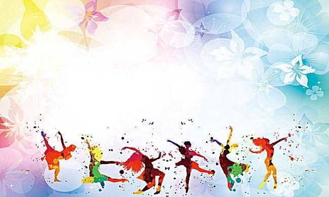 Dancer Dancing Colorful Floral Background Dance Poster Design Dance Background Poster Background Design